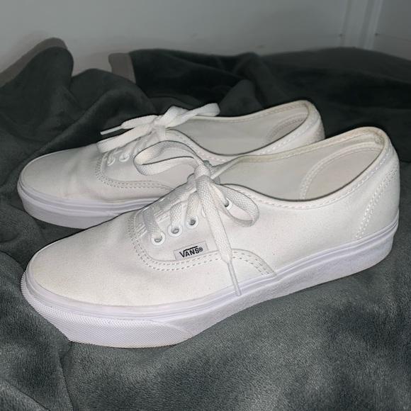 Vans Shoes   White Vans   Poshmark